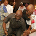 Dino Melaye and Senator Godswill Akpabio show off their dancing skills