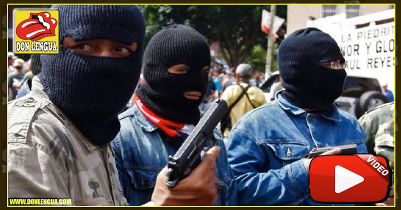 """Caravana de colectivos encapuchados y disparando al aire """"Invitan"""" al pueblo a la juramentación de Maduro"""