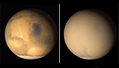 Mengerikan, Badai Debu Di Mars Telah Mengelilingi Seluruh Planet