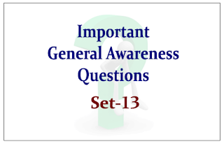 List of Expected General Awareness Questions for Upcoming IBPS RRB/PO and Insurance Exams 2015 Set-13