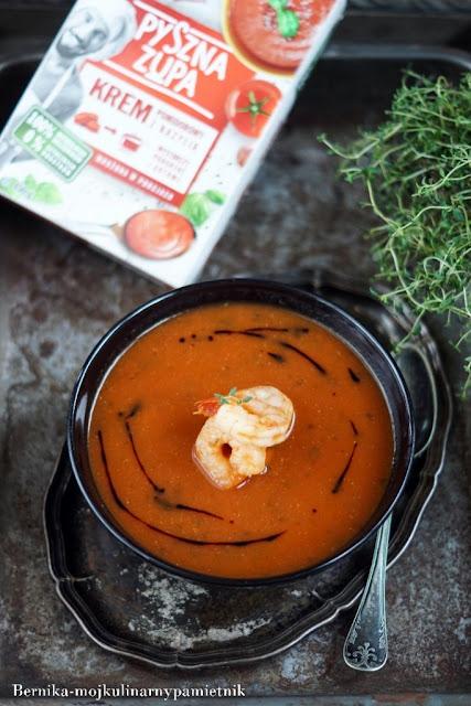 poltino, pomidory, zupa, krem, bernika, krewetki, kulinarny pamietnik