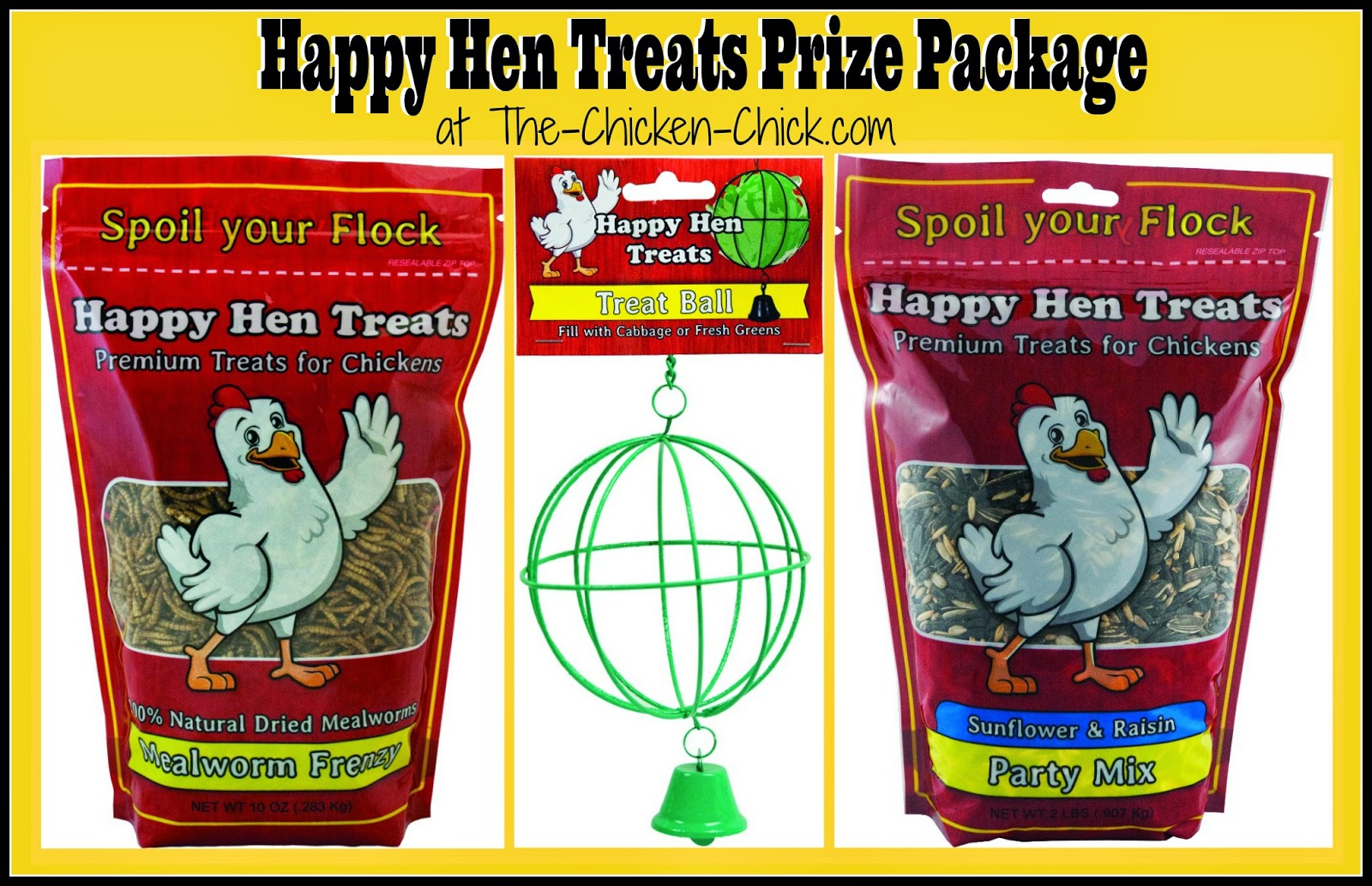 Happy Hen Treats and The Chicken Chick celebrate National Poultry Day March 19th with a Giveaway-palooza