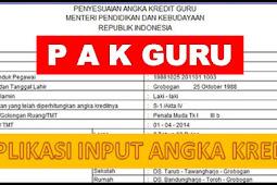 Download Aplikasi PAK (Penilaian Angka Kredit) Guru