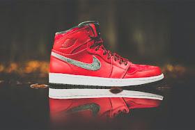 Nike Air Jordan 1 High Premier Varsity Rot Army Grün