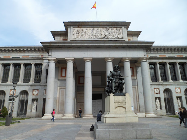 Simply Monument Of Diego Velazquez In Front