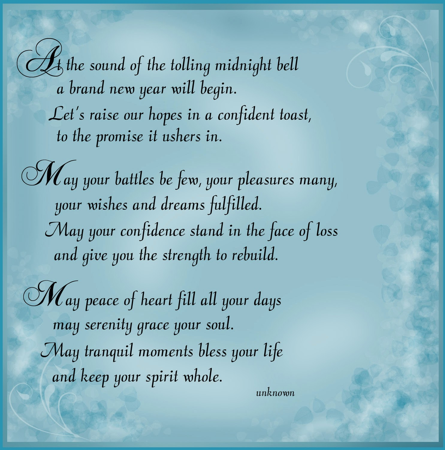 New Year Quotes For Life: New Year 2014 Wishes Poems Poetry Collection