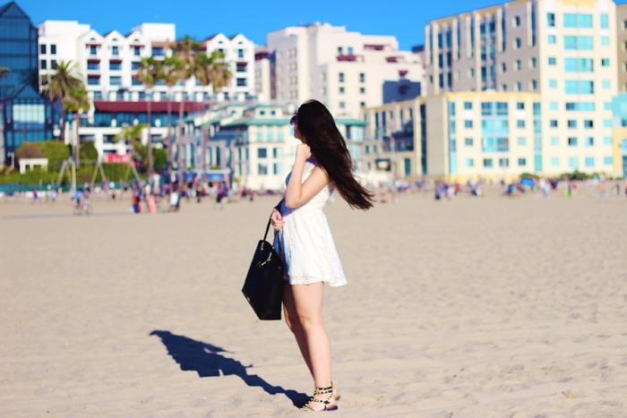Aimerose rasa virviciute Santa Monica Beach