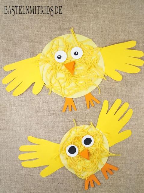 Küken basteln mit Kindern für Ostern. Mit eigenen Händen schnell und einfach zu Ostern Bastel