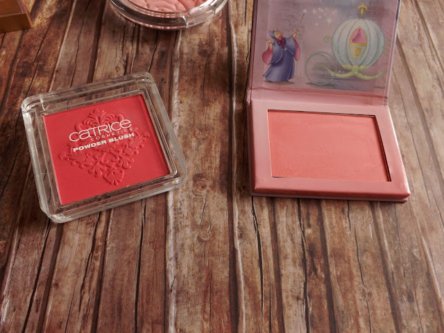 6 - Catrice Rock-o-co Powder Blush in C02 Madame De Pinkadour, 7 - essence Cinderella blush in 01 so this is love