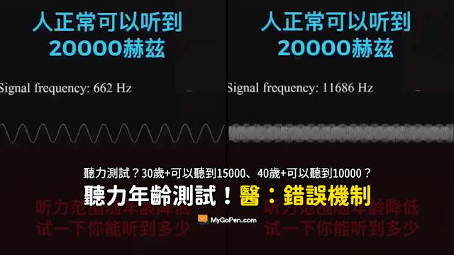 30歲+可以聽到15000 40歲+可以聽到10000 您的聽力代表著衰老的程度