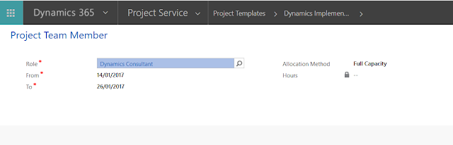 Project Service Automation -  Project Templates Joe Gill Dynamics 365 Consultant & Microsoft Dynamics MVP