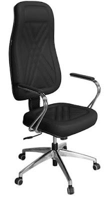 Foto da Cadeira Presidente Luxo Preto Com Estrela E Braços Cromados - Pethiflex