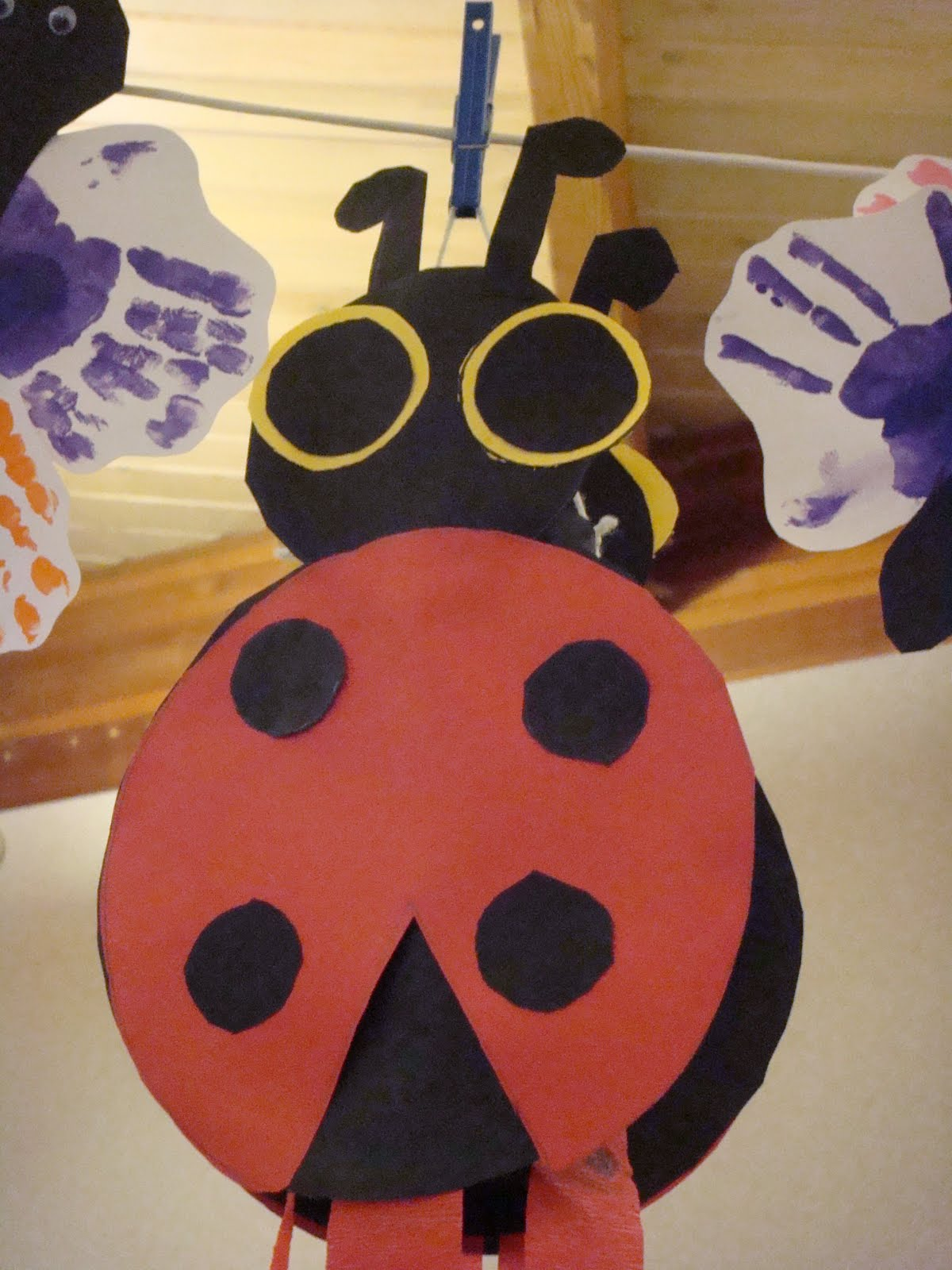 Ladybug Craft Butterfly Handprint Art