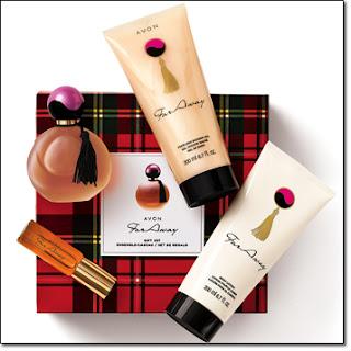 avon catalog far away perfume gift set