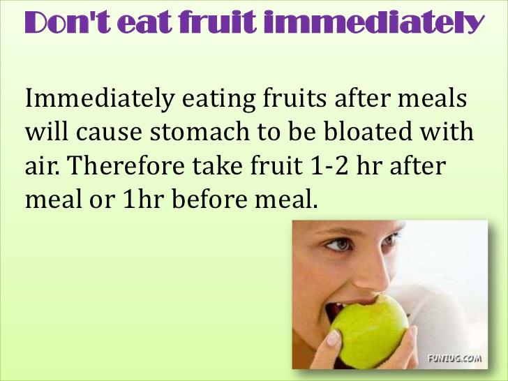 Makan Buah Setelah Makan? Jangan Lakukan!