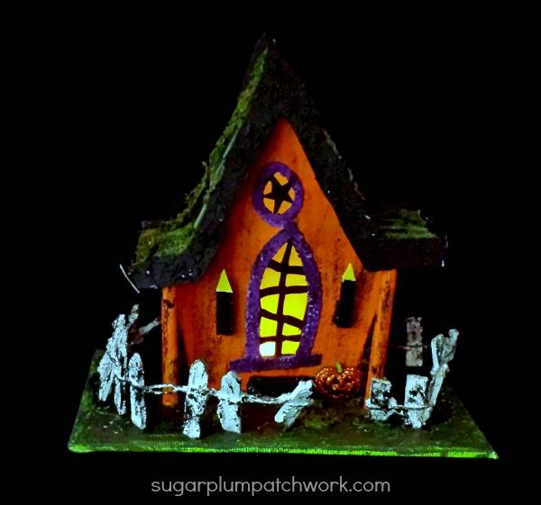 Halloween House lit
