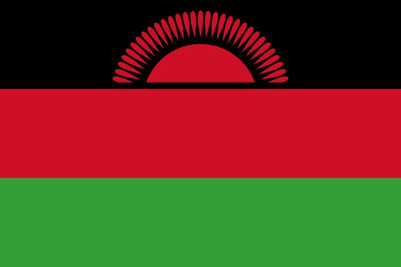 Logo Gambar Bendera Negara Malawi PNG JPG ukuran 800 px