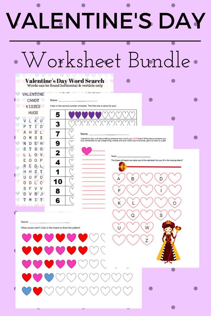 FREE Preschool Printable Valentine\'s Day Worksheet Bundle | Reviewz ...