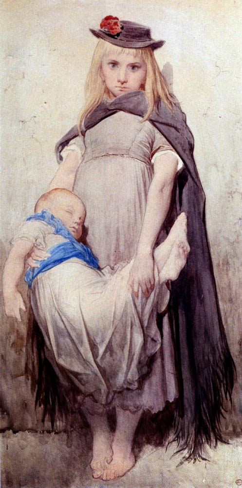 Jeune Mendiante - Gustav Doré e suas pinturas ~ Pintor, desenhista e inlustrador francês
