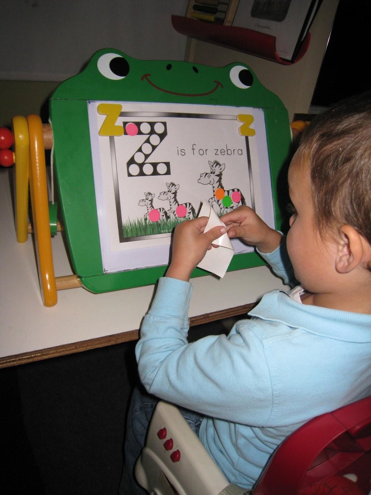 Learning In Grace Z Is For Zebra Tot School