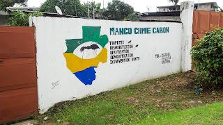 Ant on the Flag of Gabon