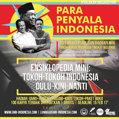 Lomba Sayembara Penulisan Biografi Mini Tokoh-Tokoh Indonesia Tingkat Nasional