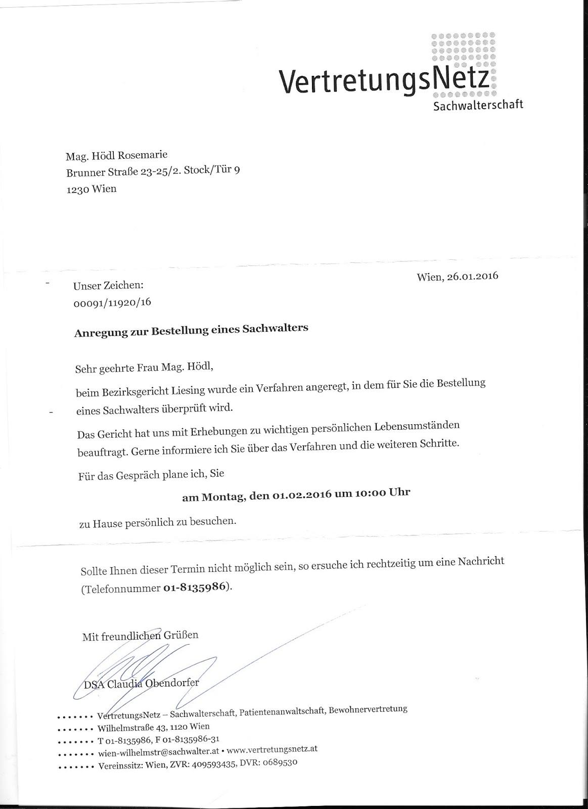 Justicia Austriaca: Februar 2016