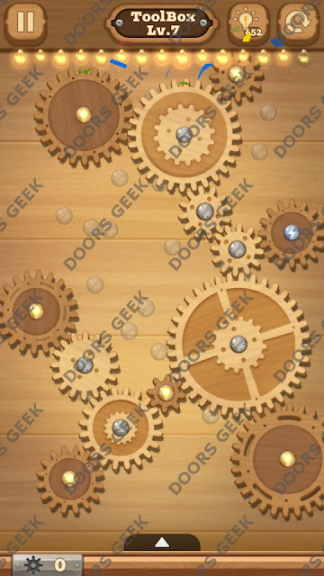 Fix it: Gear Puzzle [ToolBox] Level 7 Solution, Cheats, Walkthrough for Android, iPhone, iPad and iPod