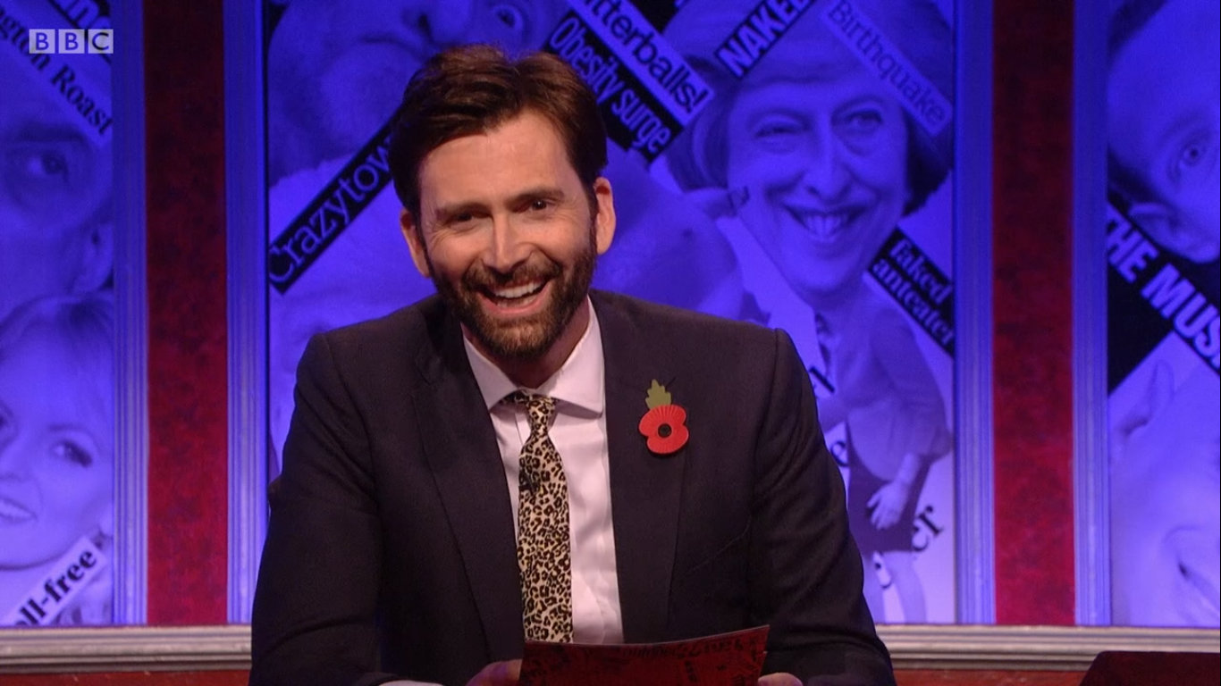 UK: Watch David Tennant On Have I Got a Bit More 2018 News for You