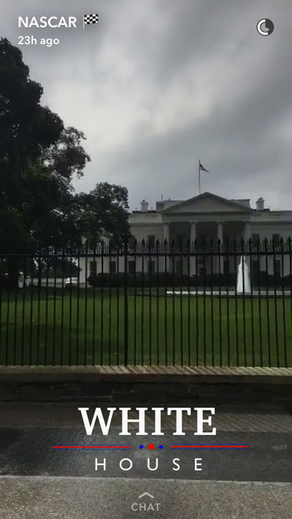 Snap - There is a Busch in the White House #NASCAR