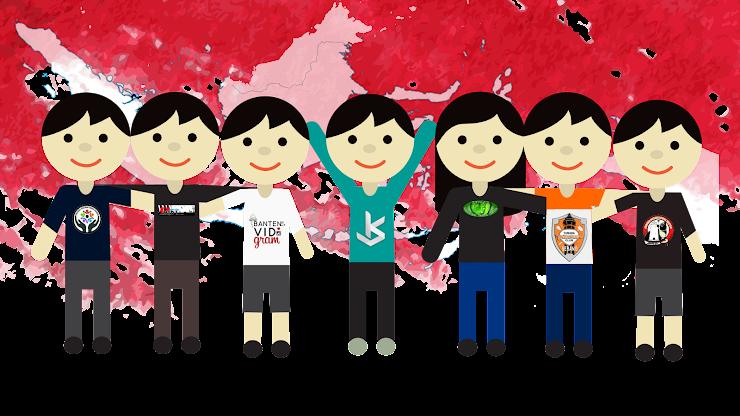 Gambar Vector - Karikatur Komunitas-Komunitas Kota Serang
