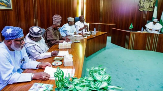 Photos Of Angry APC Governors Meeting With President Buhari