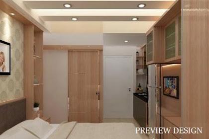 Jasa gambar online desain kamar mewah apartemen tipe studio mungil