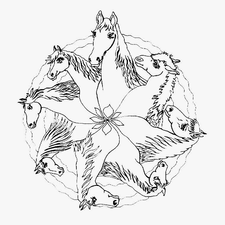 Coloring Pages Horse Mandala Coloring