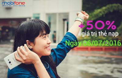 Khuyến mãi Mobifone ngày 6/7/2016