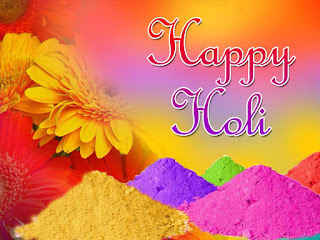 Happy Holi 2017 Wishes Card.