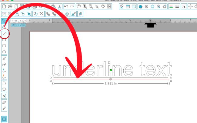underline text silhouette studio, silhouette studio tutorial, silhouette studio hacks, silhoeutte cameo tutorials