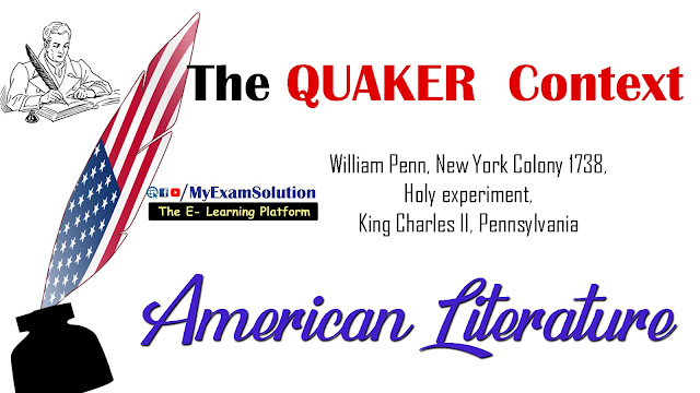 american literature, ugc net english literature, ugc net, Quaker Context, king charles II, my exam solution