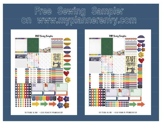 Free Printable Sewing Sampler for both the Vertical Erin Condren Life Planner and The Happy Planner