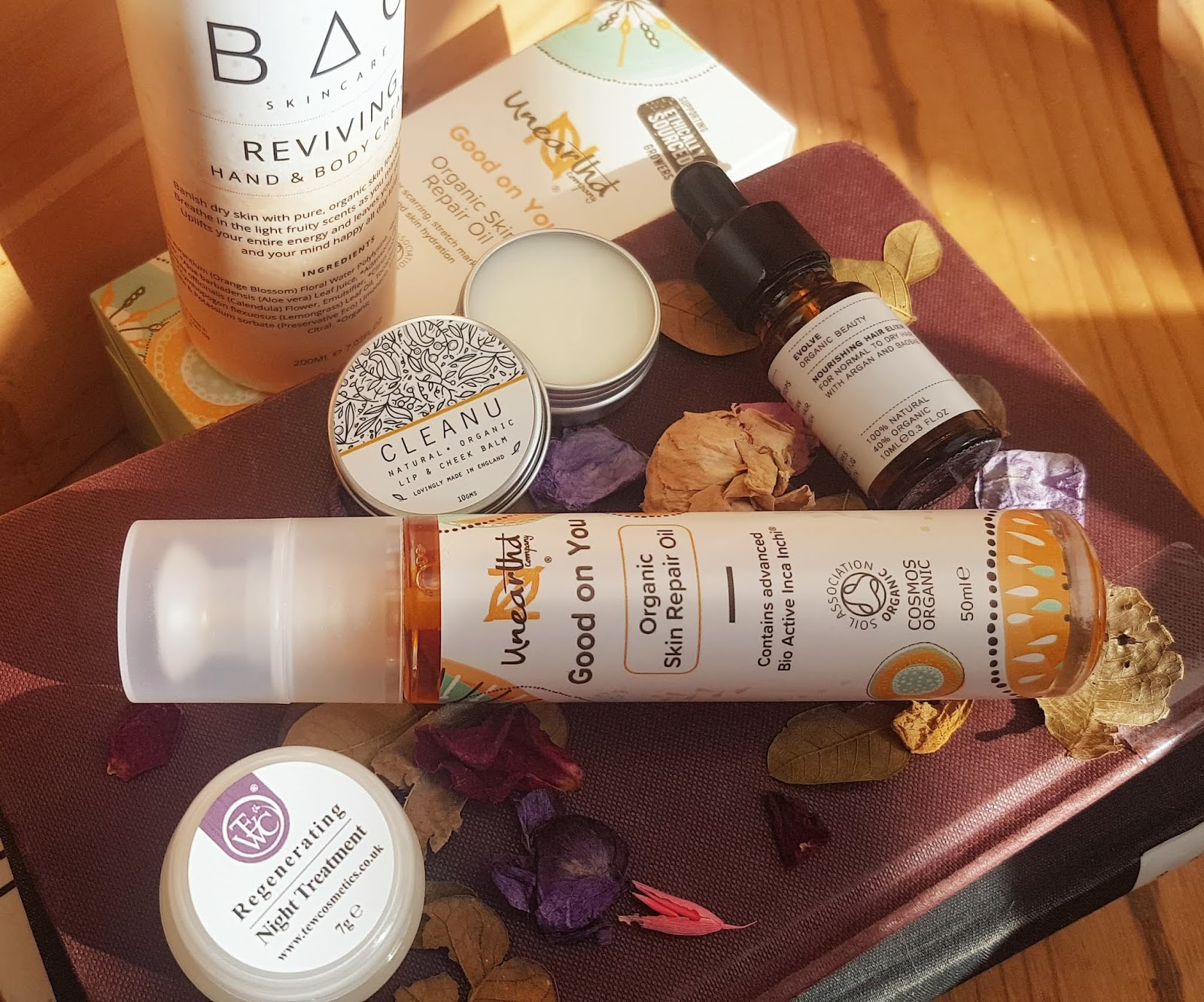 The Natural Beauty Box February subscription products