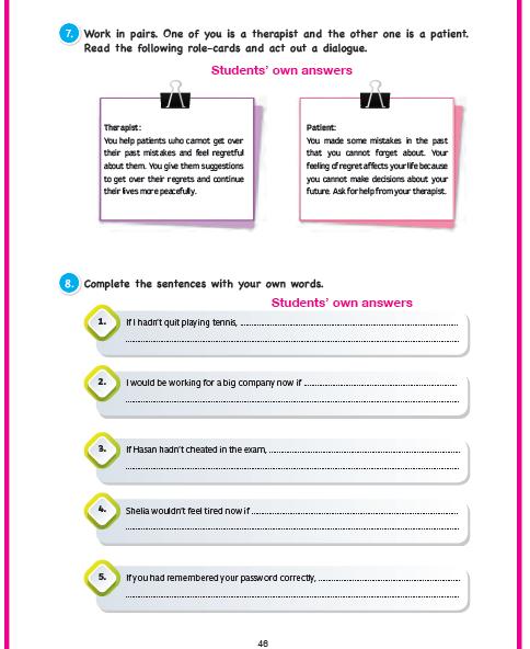 11. Sınıf Cem Veb Ofset Yayınları İngilizce Sunshine Çalışma Kitabı 46. Sayfa Cevapları Theme 8 What If