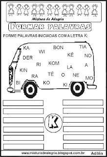Formar palavras com a letra K