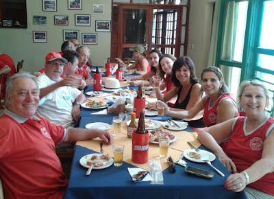 Almoço no restaurante do Clube da Fazenda Ribeirão.