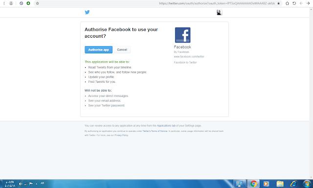كيف أربط حساب فيسبوك مع تويتر