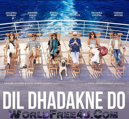 Poster Of Bollywood Movie Dil Dhadakne Do (2015) 185MB Compressed Small Size Mobile Movie Free Download worldfree4u.com