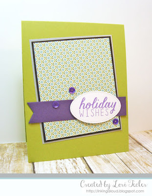 Holiday Wishes card-designed by Lori Tecler/Inking Aloud-stamps from Reverse Confetti