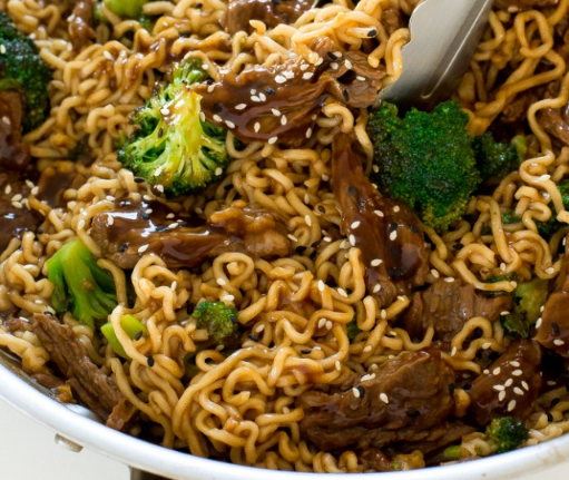 Beef and Broccoli Ramen #Dinner #easy
