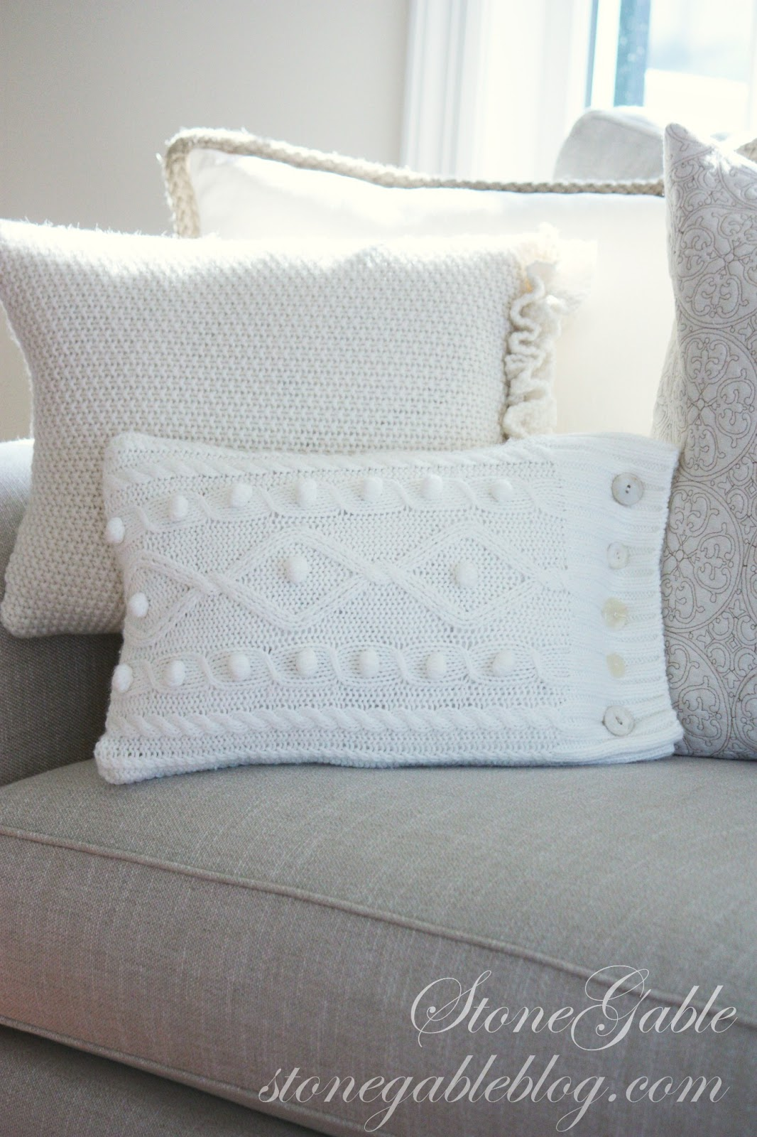 WINTERY SWEATER PILLOWS