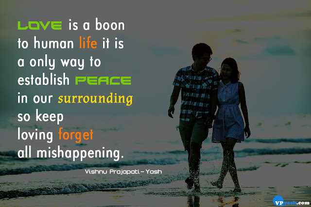 Love  is a boon to human life Love quotes