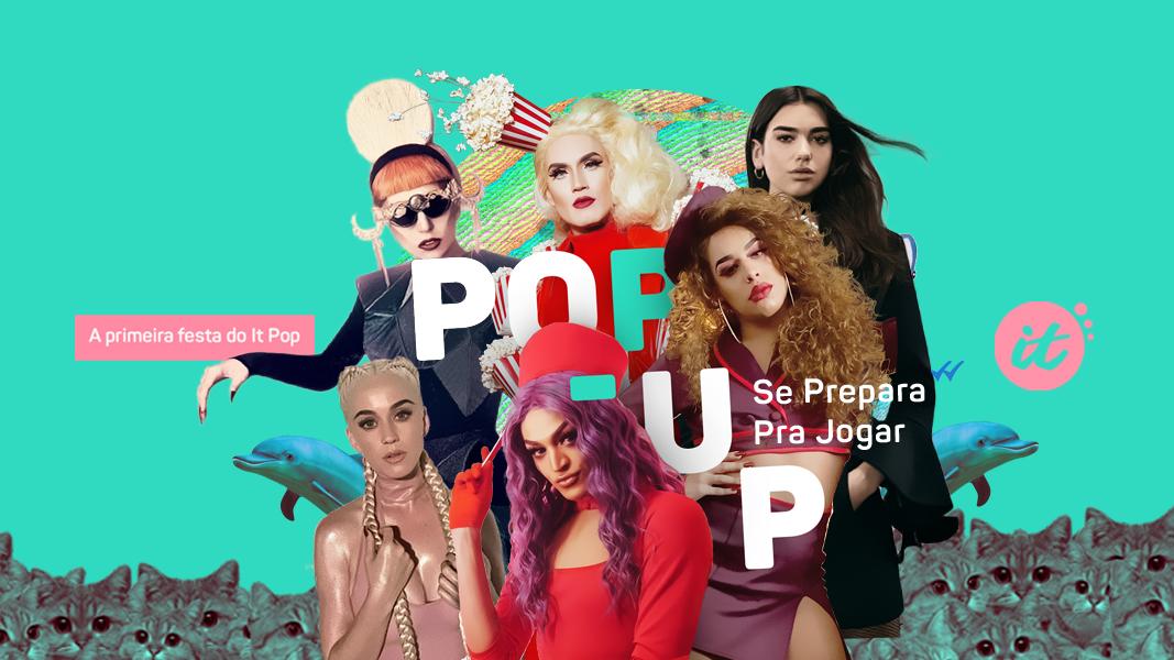 """Chegamos! A primeira festa do It Pop, """"Pop-up"""", acontecerá no dia 16 de março na Lab Club, ali na Augusta."""